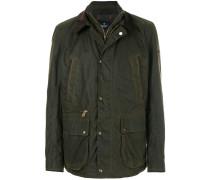 waxed distressed jacket
