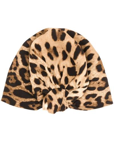 Turban mit Leoparden-Print