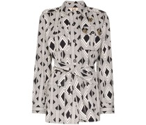 Jacke mit geometrischem Print