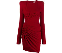 asymmetric gathered mini dress