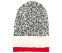 colour block beanie hat
