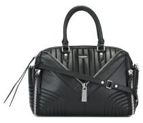 Gesteppte Handtasche mit Reißverschlüssen