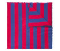 striped tiger jacquard scarf