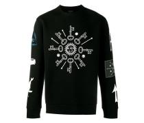 Sweatshirt mit Schlüssel-Print