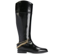 chain-embellished boots