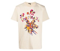 "T-Shirt mit ""Tropicana""-Stickerei"