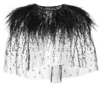 embroidered ostrich feather bolero
