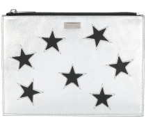 'Star' Clutch mit Metallic-Effekt