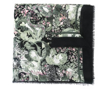 printed frayed scarf