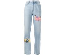Gerade 'Tara NY' Jeans mit Patches