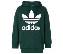 Trefoil print hoodie