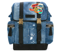 Distressed-Rucksack mit Patches