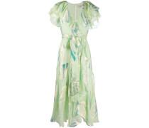 Kleid mit Paillettenblättern