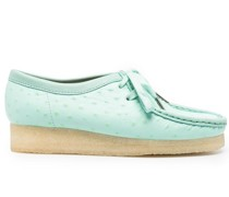 Wallabee ostrich-effect loafers