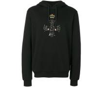 embellished cross hoodie