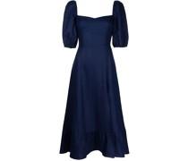 Belgium puff-sleeve dress