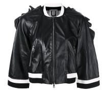 Cropped-Jacke mit gerüschten Kanten