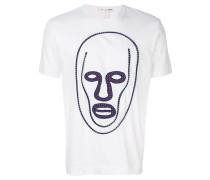 T-Shirt mit Gesicht-Stickerei