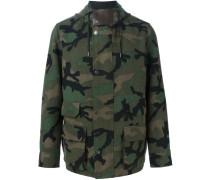 Wolljacke mit Camouflage-Print