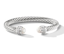'Cable' Armreif mit Diamanten