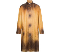 Distressed Leather Fireman Coat
