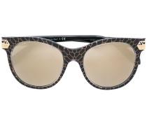Sonnenbrille mit Schlangenleder-Effekt