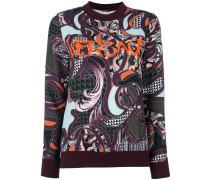 'Baroccoflage' Pullover mit Logostickerei