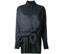 Gestreiftes Hemd mit Schleife - women