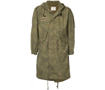 camouflage print parka