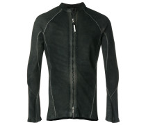 zipped fitted shirt-jacket
