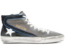 Slide hi-top sneakers