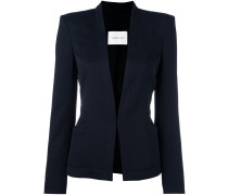 hook-and-eye fastened blazer