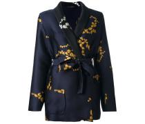 Figurnahe Jacke mit Blumenstickereien