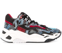 Plateau-Sneakers in Schlangenleder-Optik