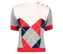 T-Shirt mit Argyle-Muster