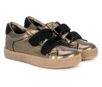 Metallic-Sneakers mit Klettverschluss
