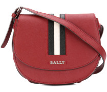 Stripe detail saddle bag