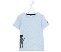 T-Shirt mit grafischem Print - kids - Baumwolle