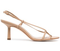 Entwined leather sandals