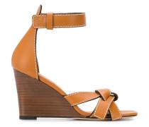 Wedge-Sandalen mit Schleife