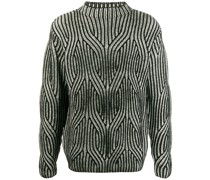 two-tone knitted jumper