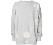 Weites Distressed-Sweatshirt