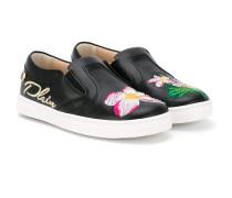 Slip-On-Sneakers mit Stickerei - kids