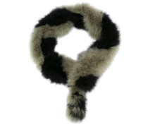 'Marabou Bands Stole' scarf
