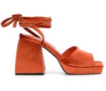 Sandalen in Samtoptik