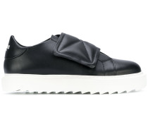 quilted strap sneakers