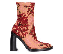 Stiefel mit floraler Jacquardmusterung