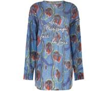 Bestickter Pullover mit Blumen-Print
