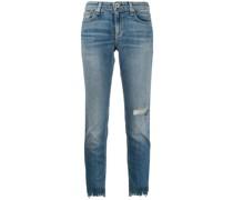 Ungesäumte Skinny-Jeans