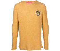 Pullover mit Blumenstickerei
